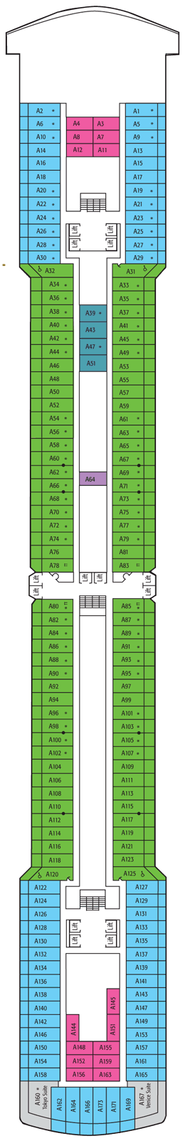 Deck plan m s arcadia before 22 04 2015 for Arcadia deck plans