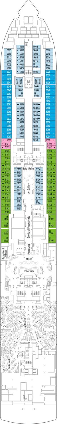 Deck plan MSC Seaview unlimited validity