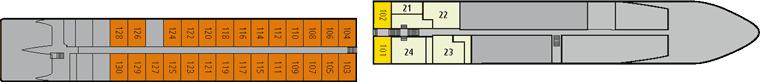 A-ROSA Silva Deck 1