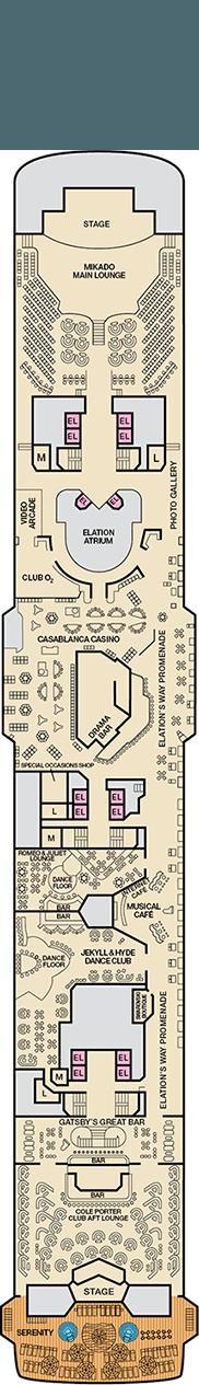 Carnival Elation Deck Plan Cabin Plan