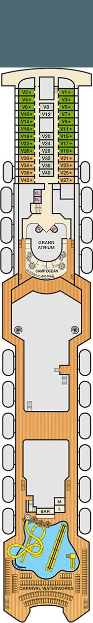 Carnival Imagination Deck plan & cabin plan on