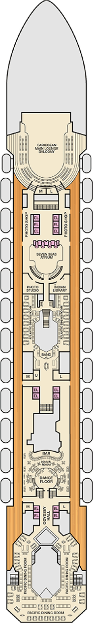 Carnival Victory Deck plan & cabin plan on