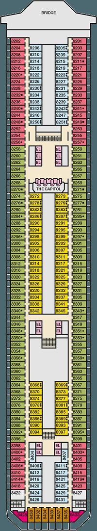 Carnival Triumph Deck plan & cabin plan on carnival triumph cabin map, oosterdam deck map, island princess deck map, carnival triumph deck plans, msc divina deck map, carnival triumph cruise ship map, golden princess deck map, carnival triumph deck rules, zuiderdam deck map,