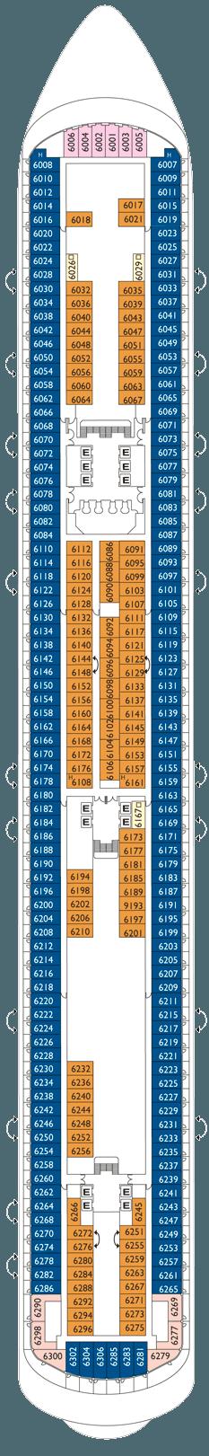 Costa diadema deckplan kabinen plan for Deckplan costa diadema