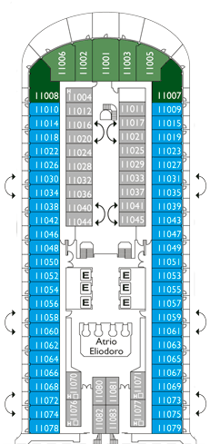 Costa diadema deck plan cabin plan for Deckplan costa diadema
