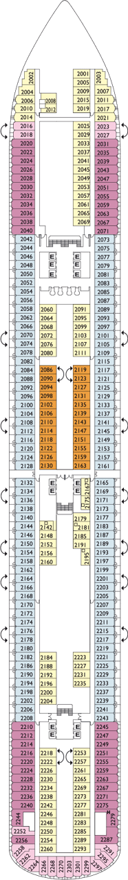 Deck Plan Costa Diadema From 23 11 2018 Until 01 04 2021 On Full Screen