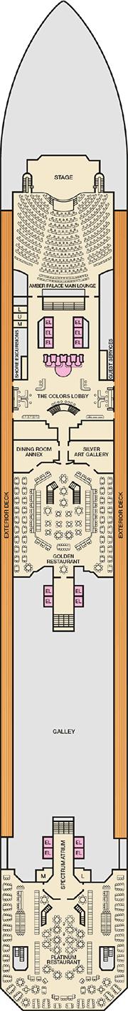 Carnival Glory Deck plan & cabin plan