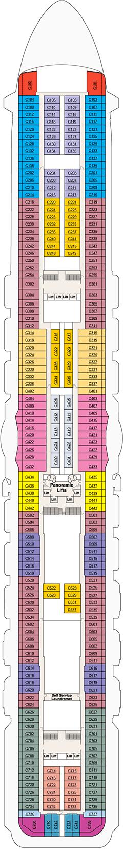 Deck plan m s sky princess unlimited validity for 8 x 10 deck plans