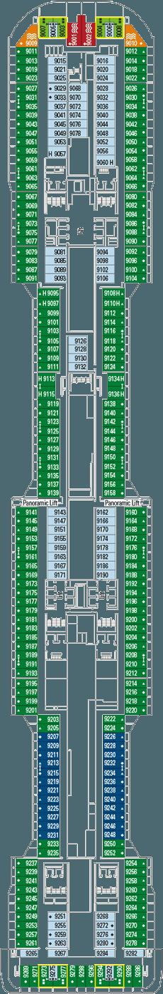 Deck Plan Msc Meraviglia From 10 05 2016