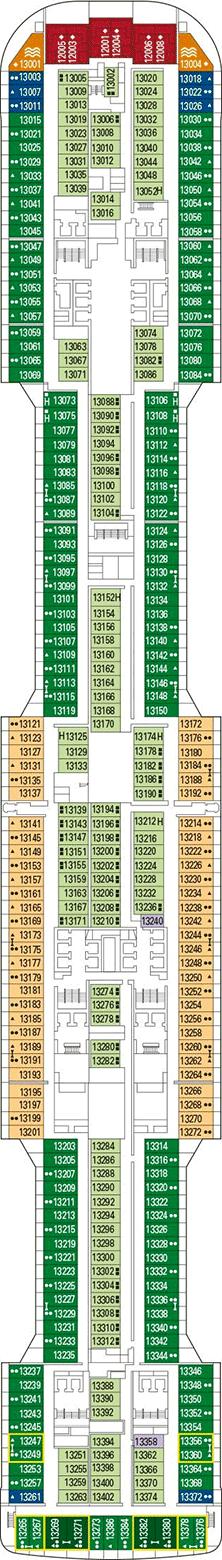 MSC Grandiosa Deck plan & cabin plan