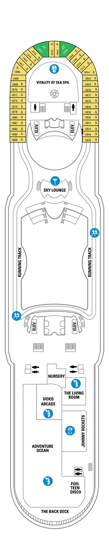 Mariner of the Seas Deck plan & cabin plan