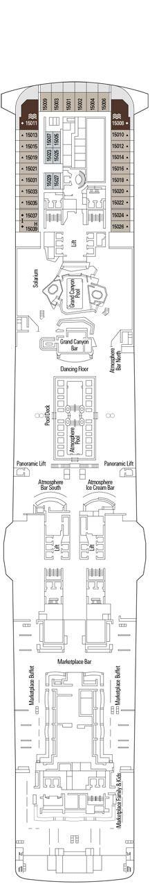 MSC Bellissima Deck plan & cabin plan