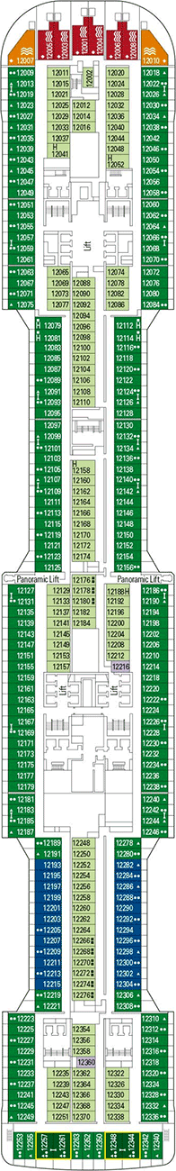 Msc bellissima deckplan kabinen plan for Deckplan msc splendida