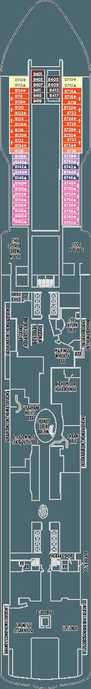 Norwegian Bliss Deck Plan Amp Cabin Plan
