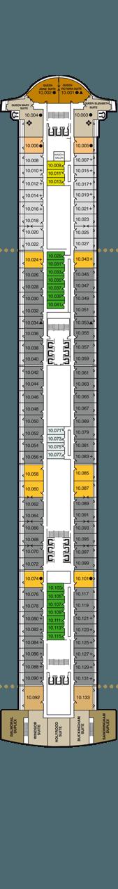 Queen Mary 2 Deck 10