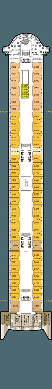 Queen Mary 2 Deck 9