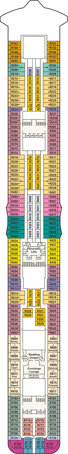 Royal princess deck plan cabin plan for Deck plans online