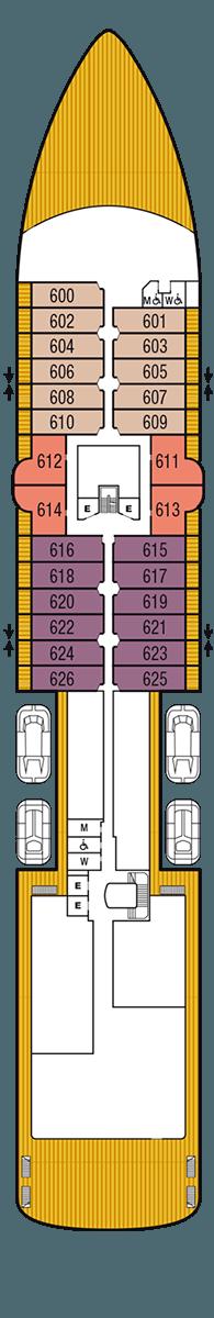 Seabourn Venture Deck 6