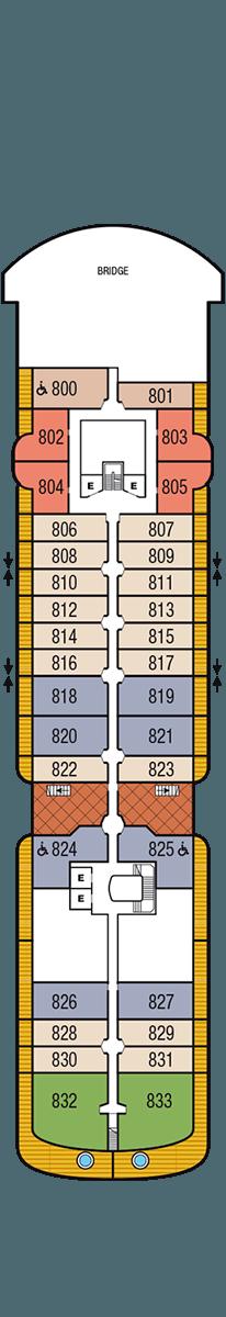 Seabourn Venture Deck 8