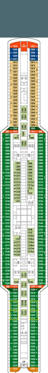 MSC Seaview Deck plan & cabin plan