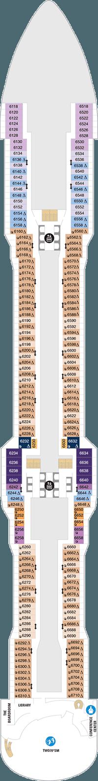 Spectrum of the Seas Deck 6