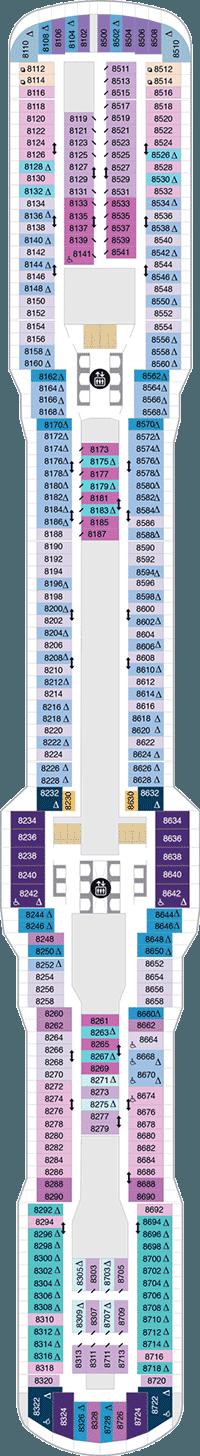 Spectrum of the Seas Deck 8