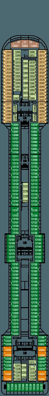 MSC Splendida Deck plan & cabin plan
