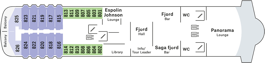 Trollfjord Deck 8