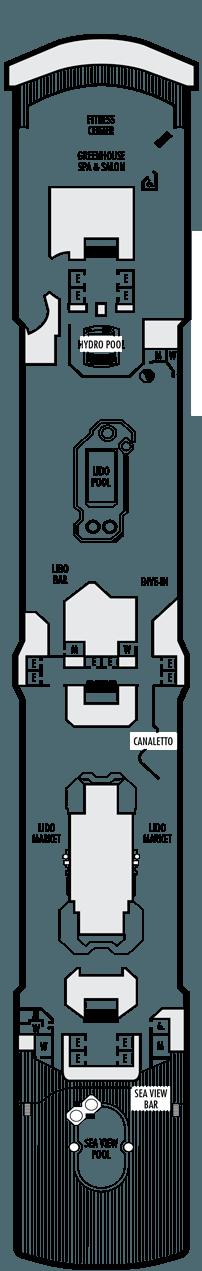 Westerdam Lido deck