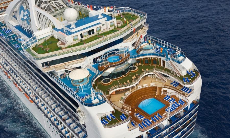 Ansicht MS Crown Princess Princess Cruises