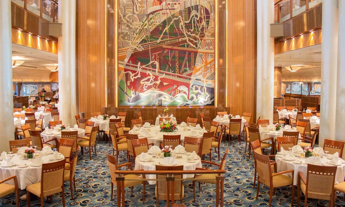 Queen Mary 2 Kreuzfahrten 2021, Queen Mary 2 Dining Room