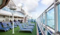 Royal Princess sunbeds on pooldeck