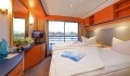 Sans Souci Twin bed oceanview stateroom with French balcony