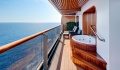 Westerdam Pinnacle Suite balcony with whirlpool