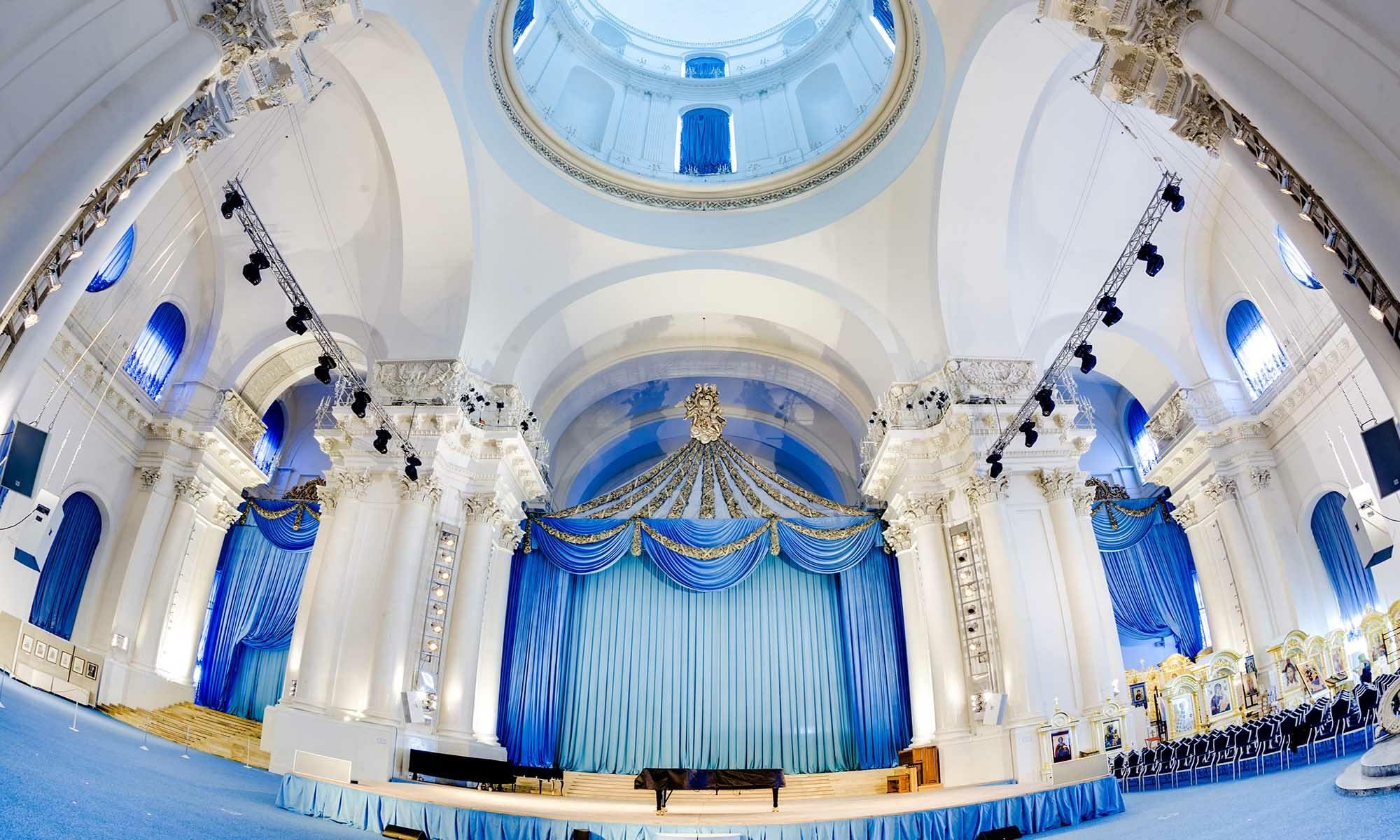 Smolny Kathedrale innen St. Petersburg