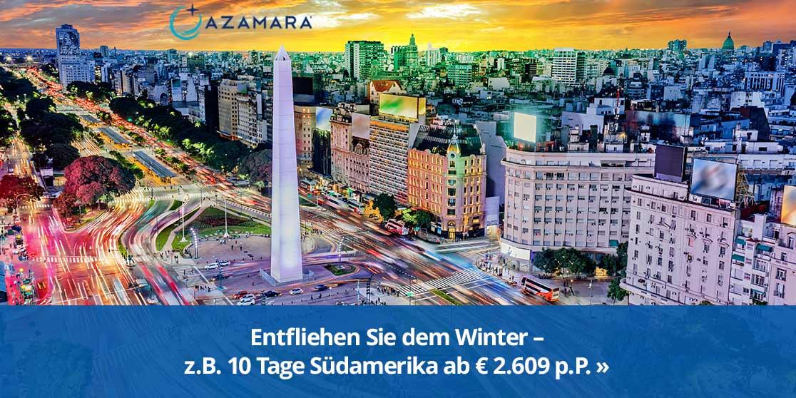 KW 16 Azamara Afrika+Asien+Australien+Neuseeland Winter 2022