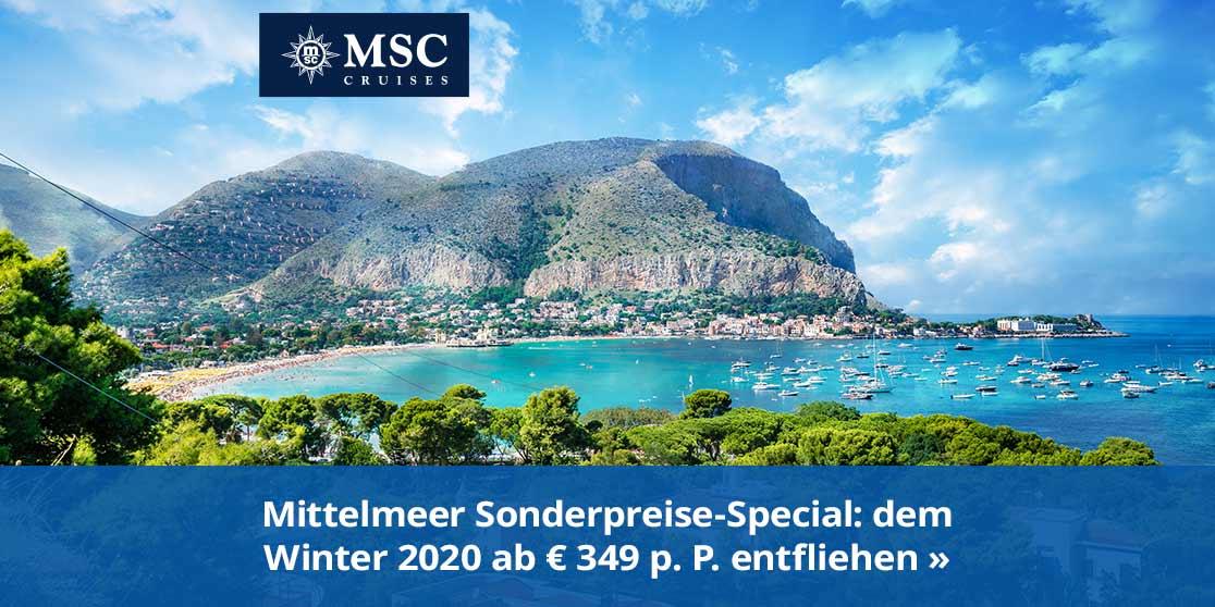 KW15 MSC Mittelmeer Sonderpreise