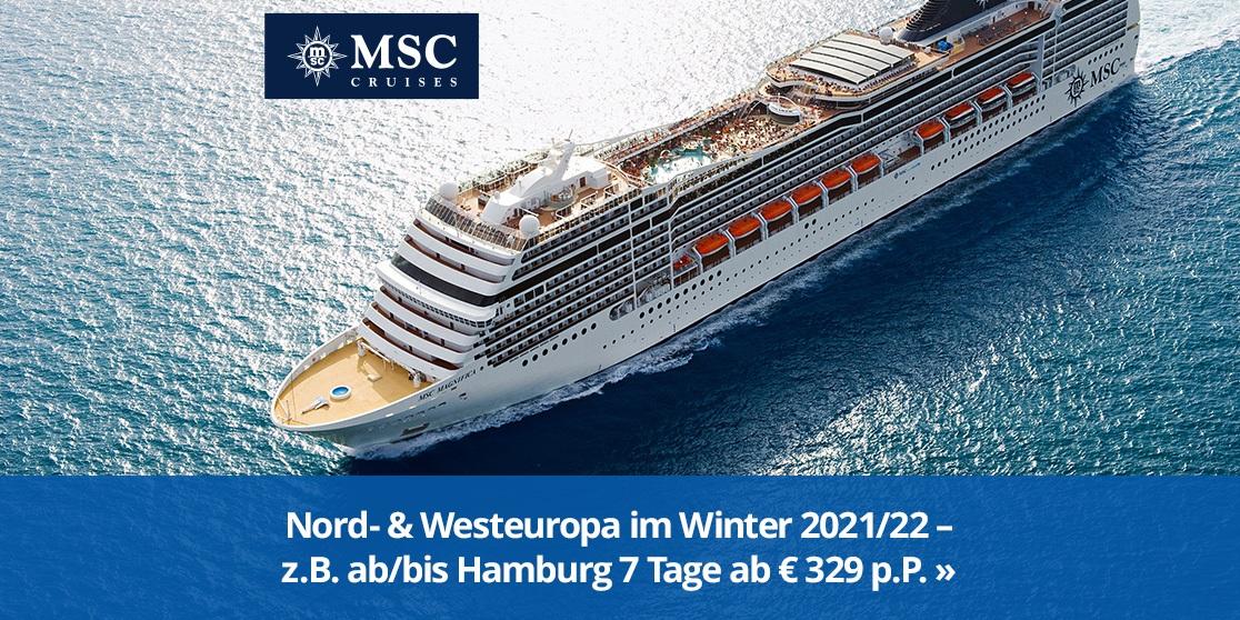 KW 41 MSC Magnifica Nord-Westeuropa Winter 2021/22