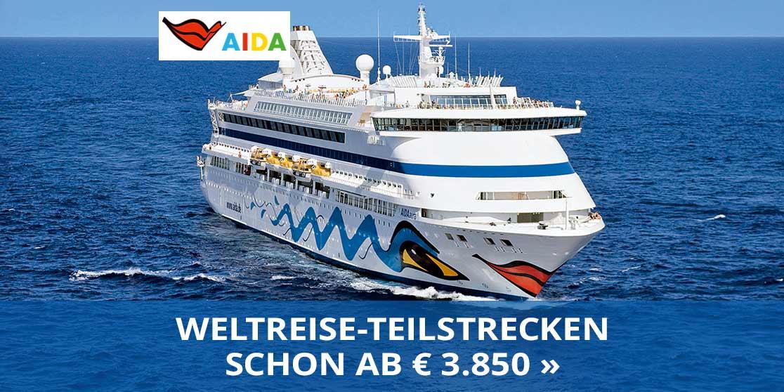 AIDA Weltreise-Teilstrecken