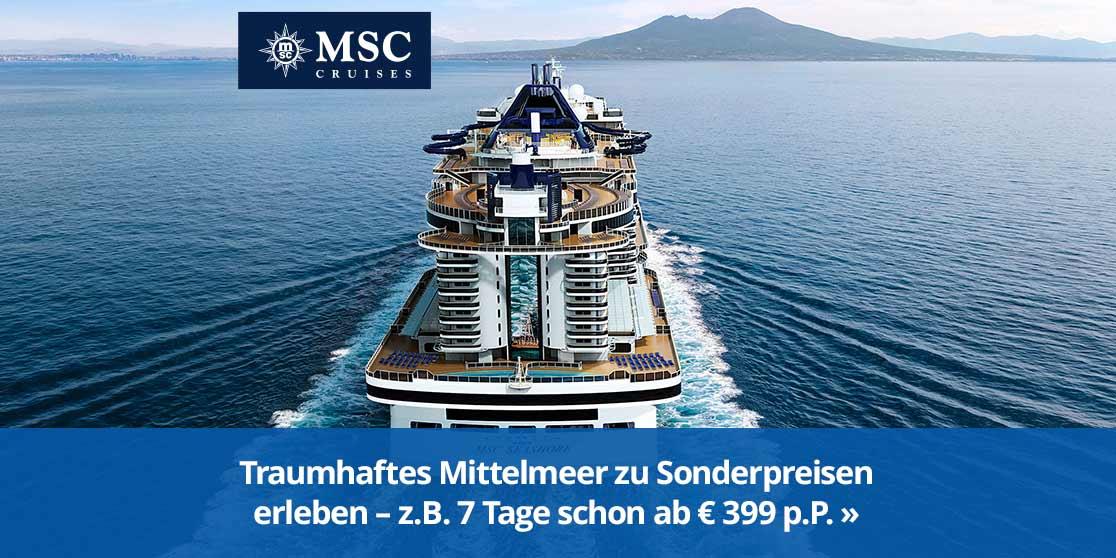 KW 16 MSC Special 745 Sonderpreise